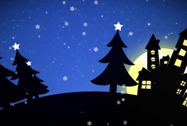 make a COOL Christmas Video Intro With Your Logo and Message