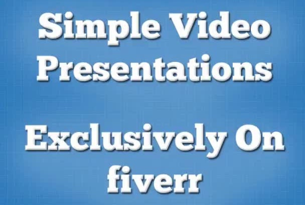 create simple video presentation and add a professional voiceover