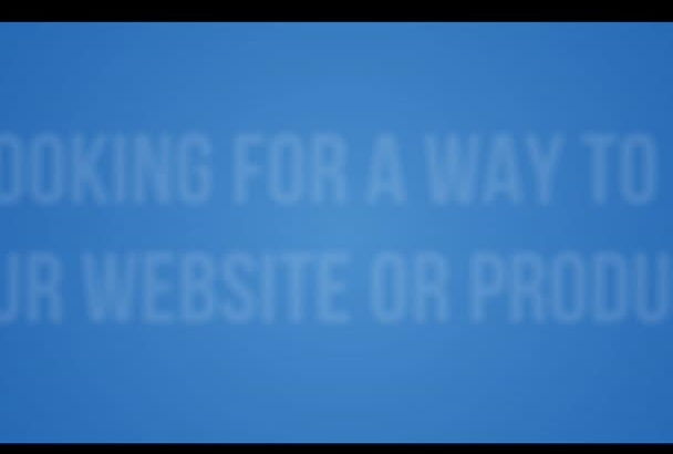 create A Commercial PROMOTING Your Product