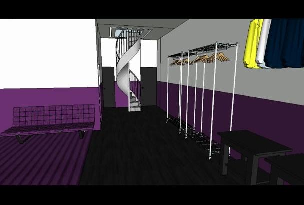 make a 3d interior design model