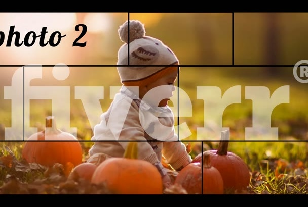 , create a dynamic slideshow of 10 photos,  41 seconds