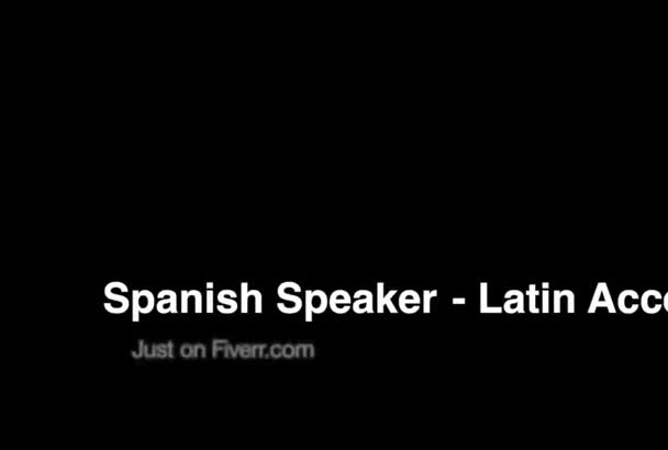 record a professional Spanish voiceover in 48 hours