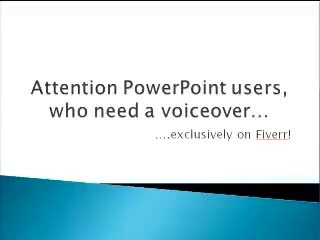 record voice over audio for your Powerpoint and turn it into a video for YouTube