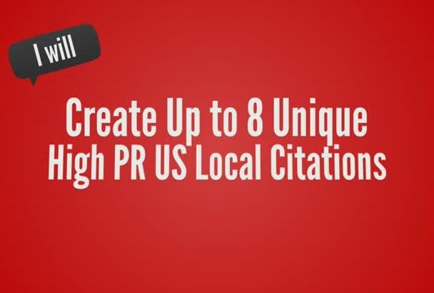 create 10 Unique US Local Citations Promote You On Google