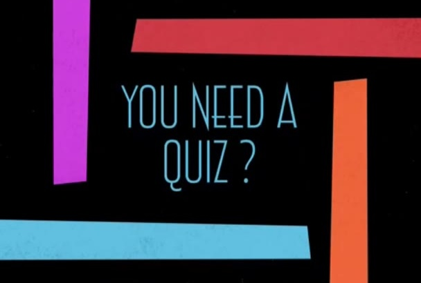 write questions for your quiz