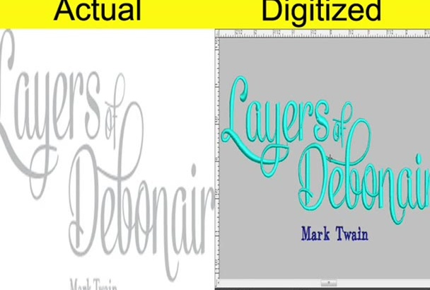 digitize your logo for your embroidery need