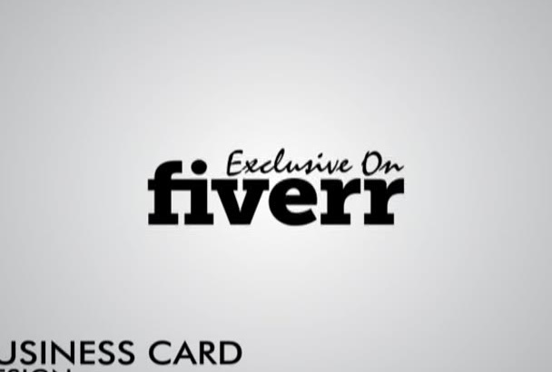 create a business card in 24 hour, Source file will FREE