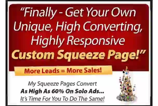 create STUNNING Landing Squeeze Page for High Conversion