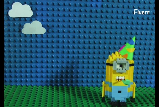 customize this birthday lego MINION stop motion with your own message