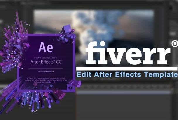 edit videohive after effects template