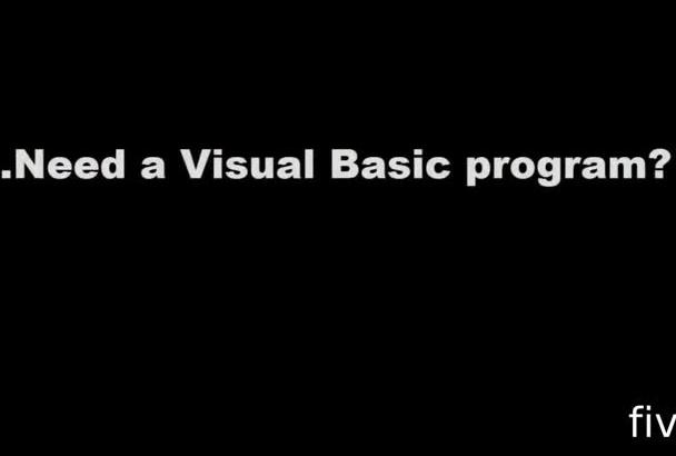code or debug any Visual Basic program