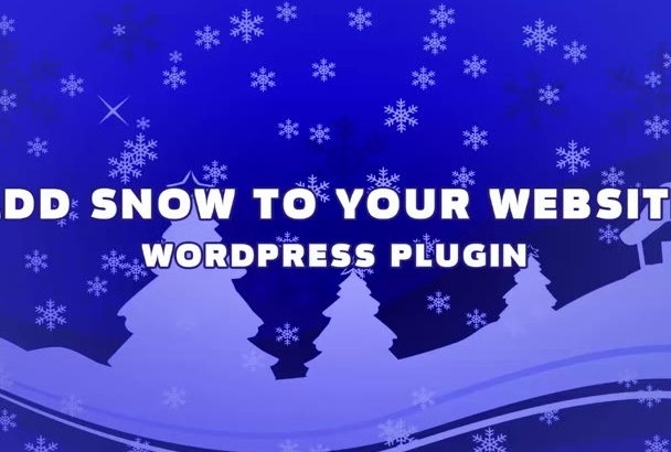 provide snow falling plugin for your website