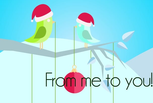 create a Professional Holidays Greeting Animation