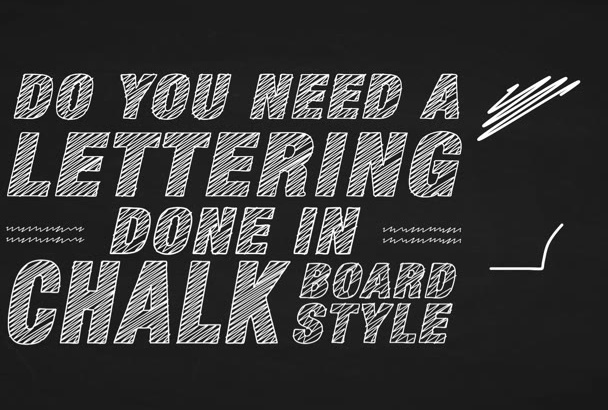 draw your quote in CHALKBOARD lettering typography