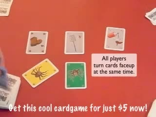 send you one of my fun cardgames Picnic Panic, Tick Burger, Pillz