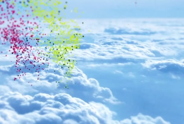 make Amazing cloud Particle video intro