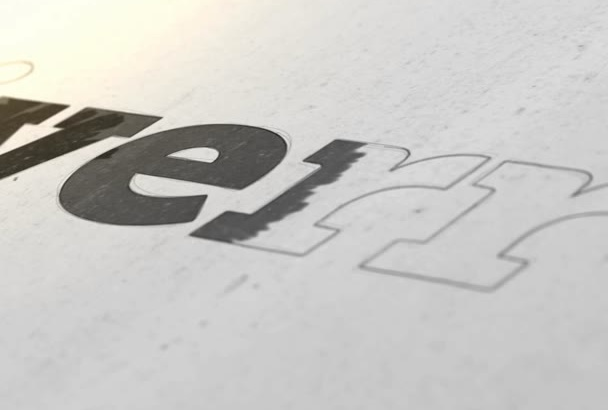 create this new DRAWING logo intro