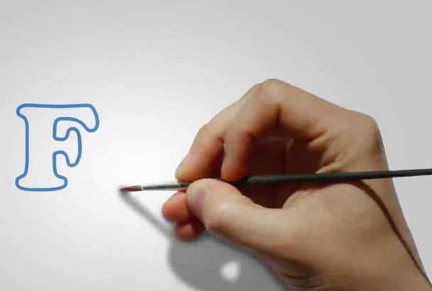 do speed paint or draw your logo
