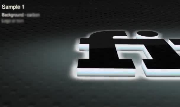 make nice elegant logo intro