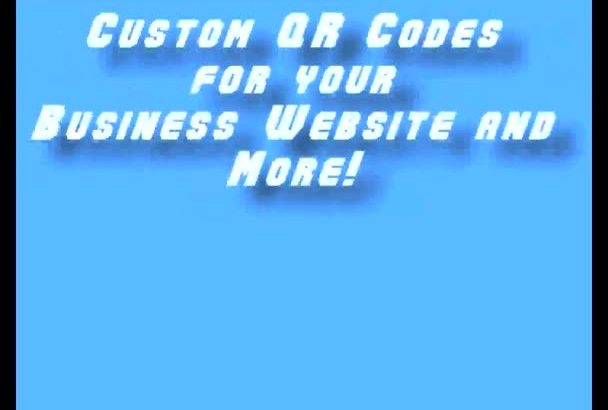 give you 3 custom qr codes for your business or website