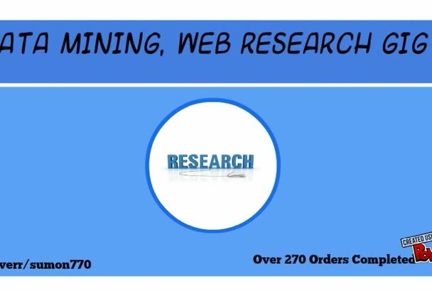do Data Mining, Data Collection, Web Scrape,Research
