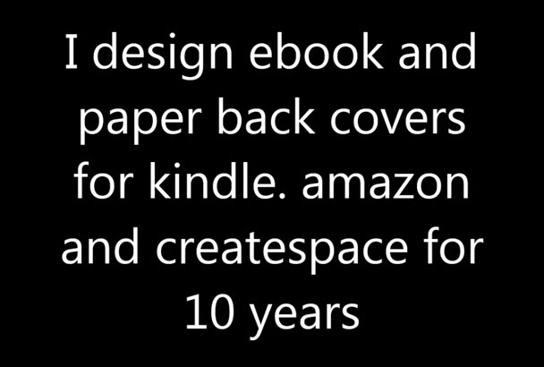 design highly professional ebook and paper back covers