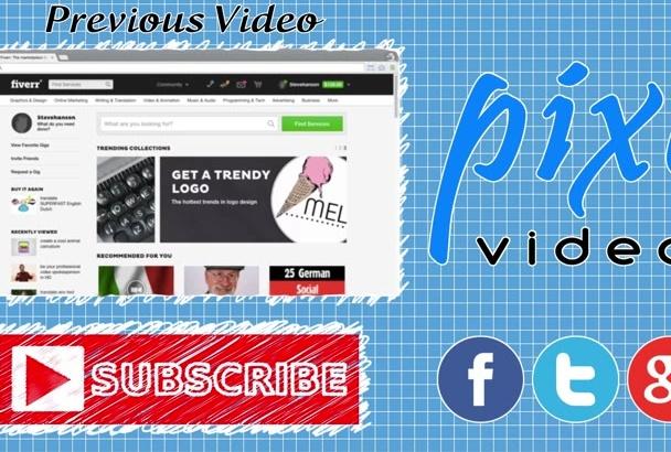 create a YouTube Outro Video Intro
