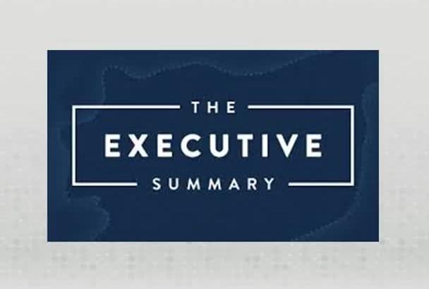write a professional Executive Summary