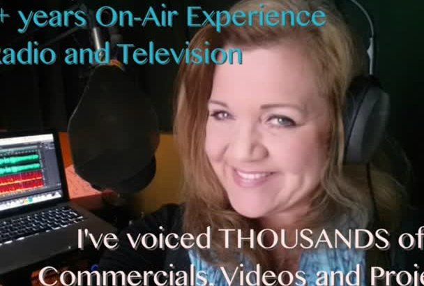 with 27 years of radio experience voice your voicemail FAST