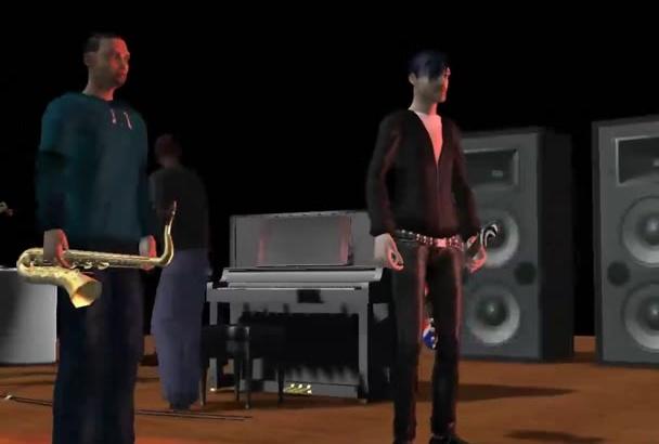 create a custom CGI 3D Animated Music Video