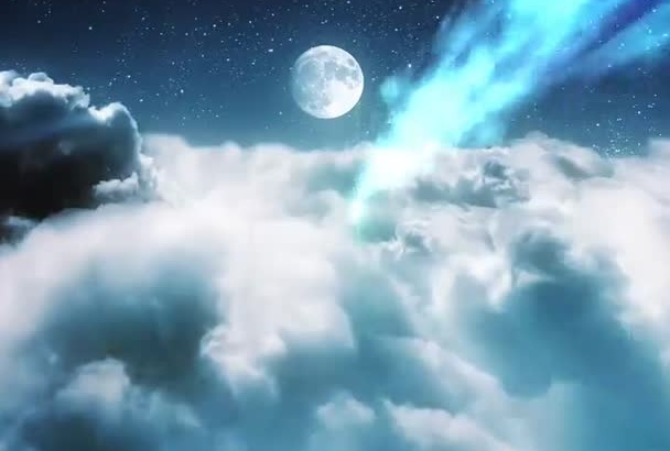 create this stunning cloudy video intro