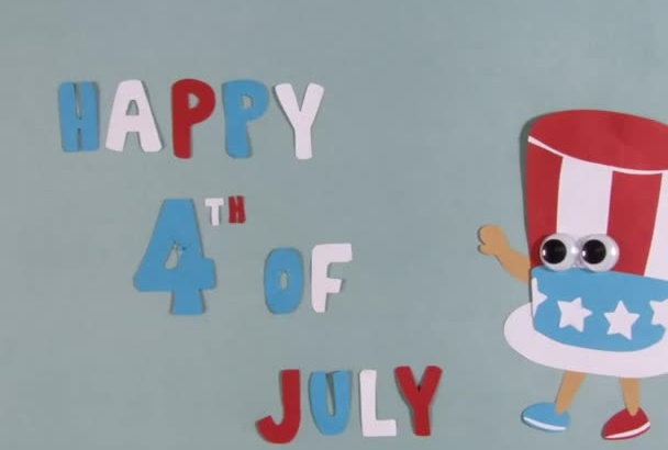 create your 4th of July video greeting