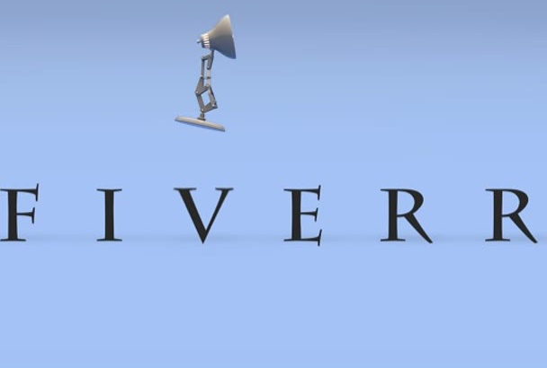 do animated intro in Hollywood movie style Pixar