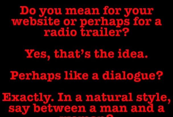 create a dialogue conversation