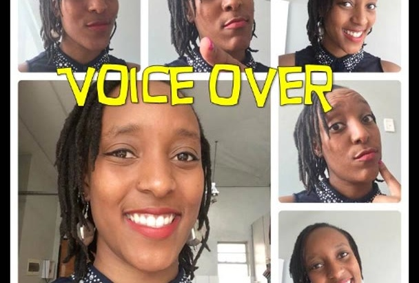 record a professional female voice over today