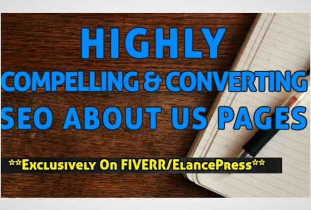 write a Highly COMPELLING About Us Page Content of 80 to 100 Words