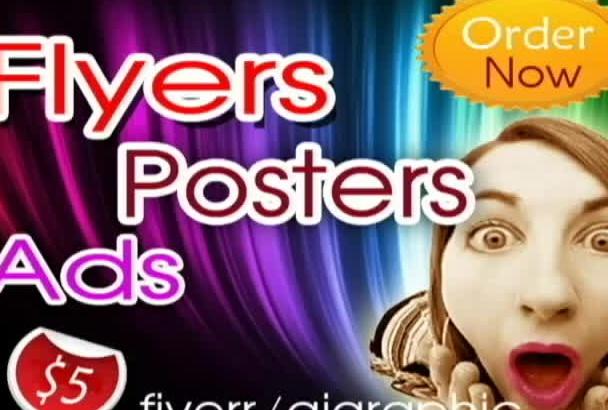 design flyer,poster or web ads
