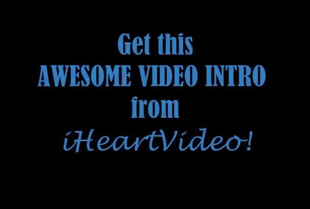 create an awesome intro or outro for your video