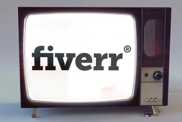do amazing crazy TV logo animation with sfx