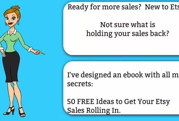 give you 50 FREE Ideas to Ramp Up Your Etsy Store