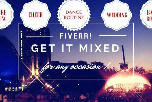 cut mix songs for your performance, dance, cheer