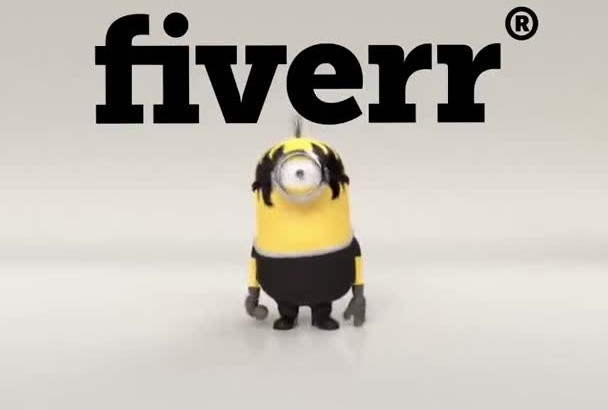 put your text in this Rock and Roll Minion Video