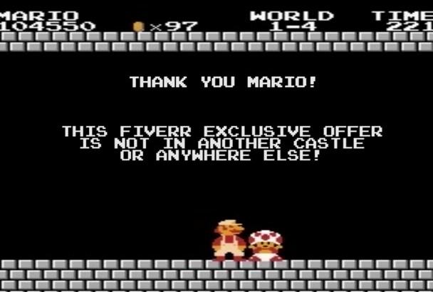write a custom Super Mario message