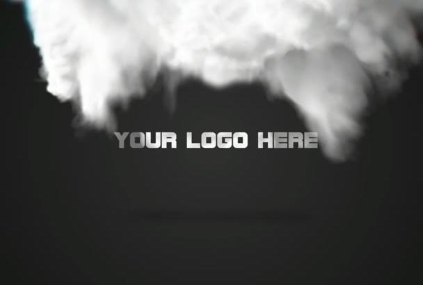 create this amazing looking smoke logo reveal