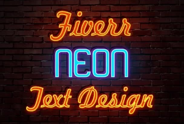 make your text into Neon style