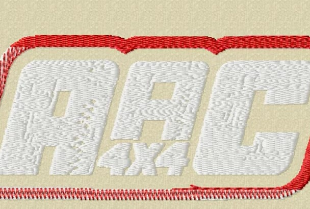 digitize your logo into embroidery in 1 hour