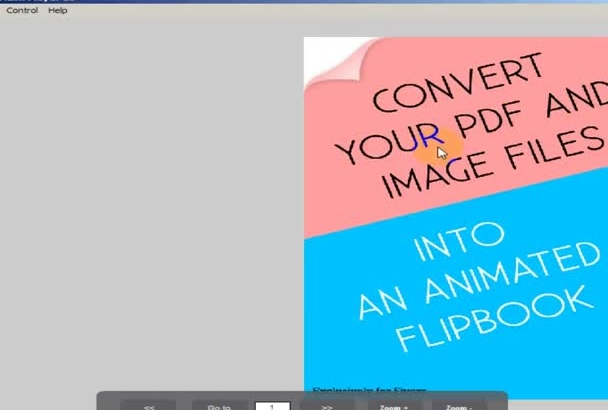 create a flipbook with your given image or pdf file