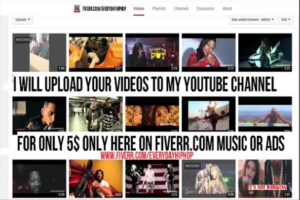 upload Your Music Videos , To My YouTube Channel