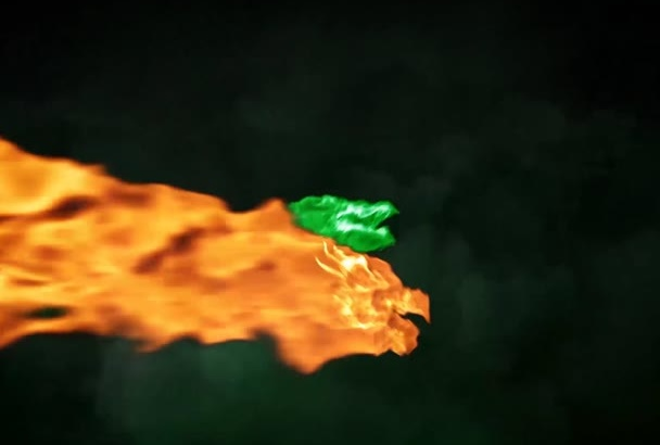 create a Dragon Magic Video Intro with Your Logo and Text