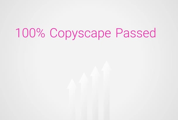 provide Google Proof Copyscape Passed English Article